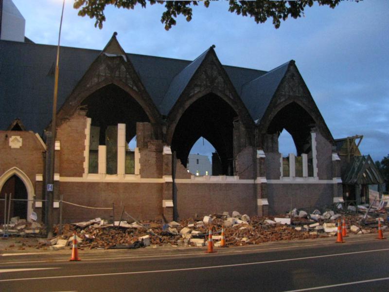 'BROKEN WALLS' - KNOX CHURCH, CHRISTCHURCH