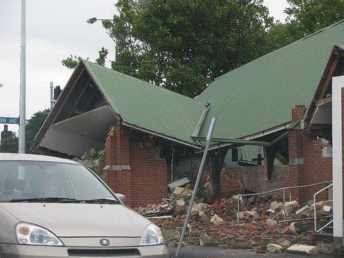 Earthquake Damaged Church Demolished - St. George's, Linwood (1/2)