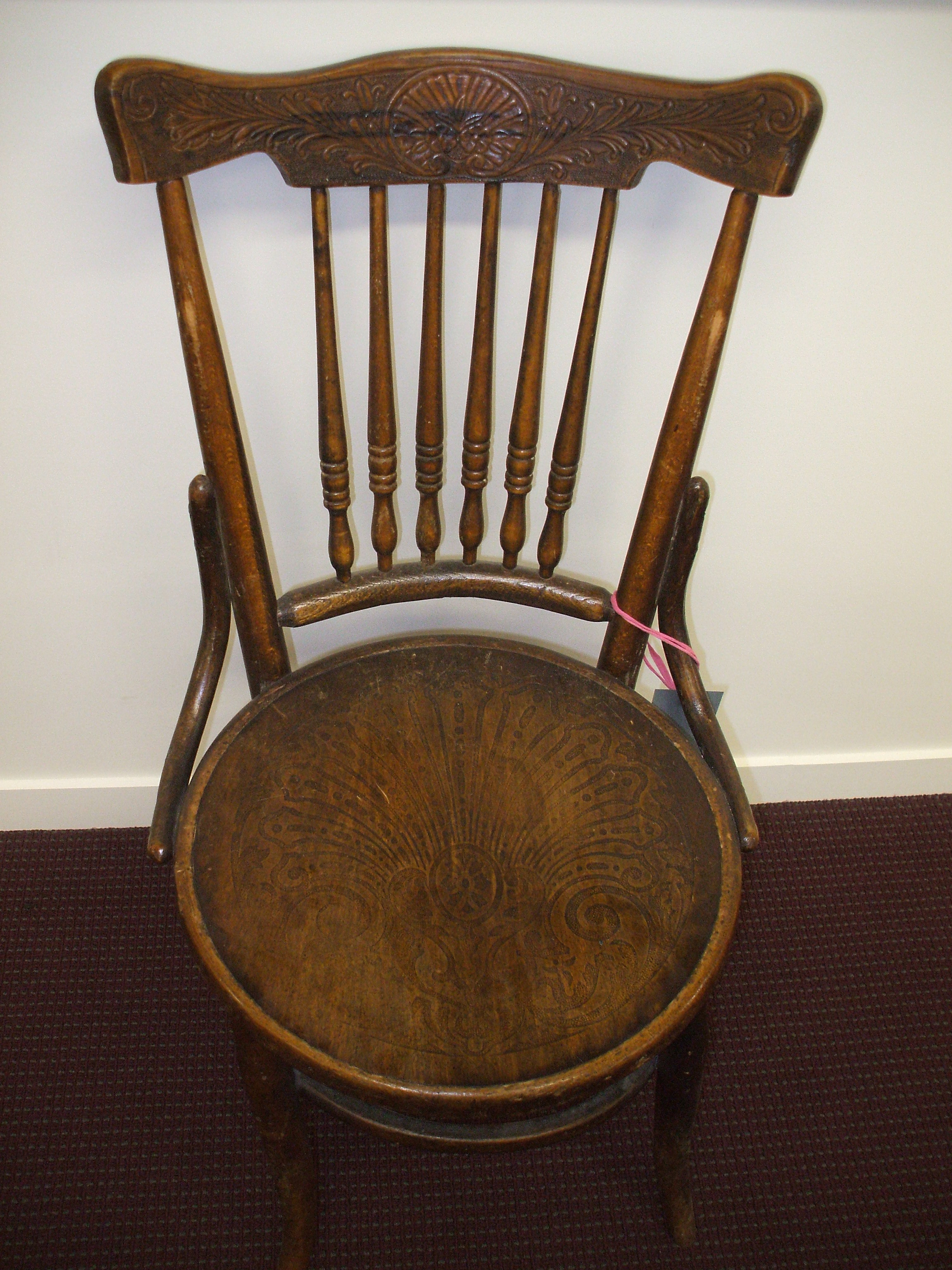 Artefact of the Month Knox College Dining Room Chair 1909
