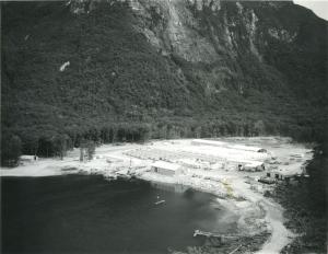 Dam settlement at West Arm, Lindsay Crozier, 1966