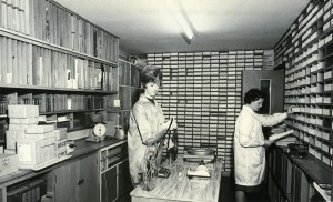 Publicity Committee Audio Visual Library in the Presbyterian Centre, Christchurch, c 1960