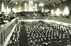 'Fathers and Brethren' listening attentively at the General Assembly, 1952